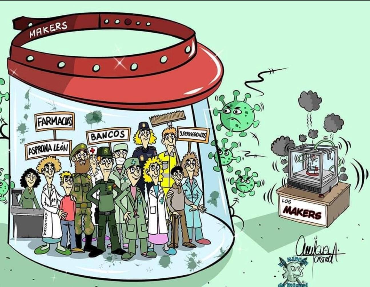 Coronavirus Makers, creadores de esperanzas