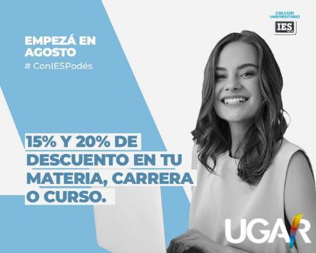 Noticias de UGAR…...20% desc en IES Siglo 21