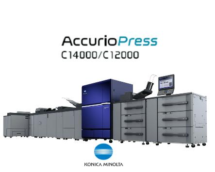 Konica Minolta : AccurioPress C14000 y C12000