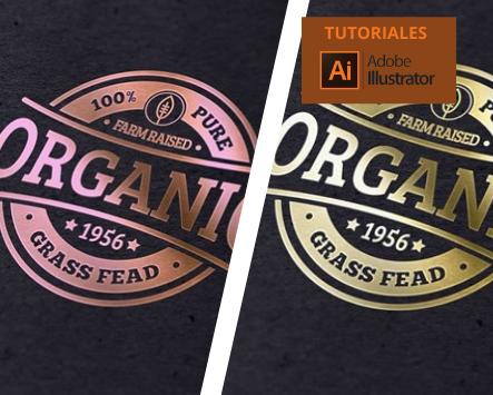 Cómo crear un logotipo de lámina oro y oro rosa en Adobe